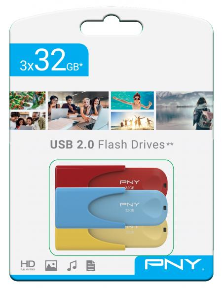 TRIPLE PACK 3x32GB USB2.0 LIMITED EDITION PNY - Imagen 1
