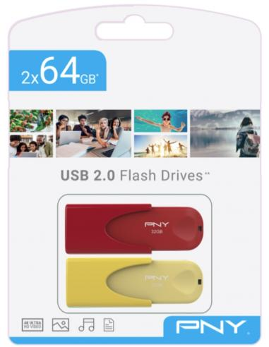 TWIN PACK 2x64GB USB2.0 LIMITED EDITION PNY - Imagen 1