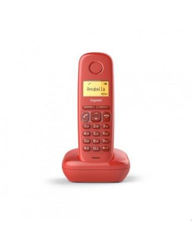 TELEF INALAMBRICO DECT DIGITAL GIGASET A170 ROJO