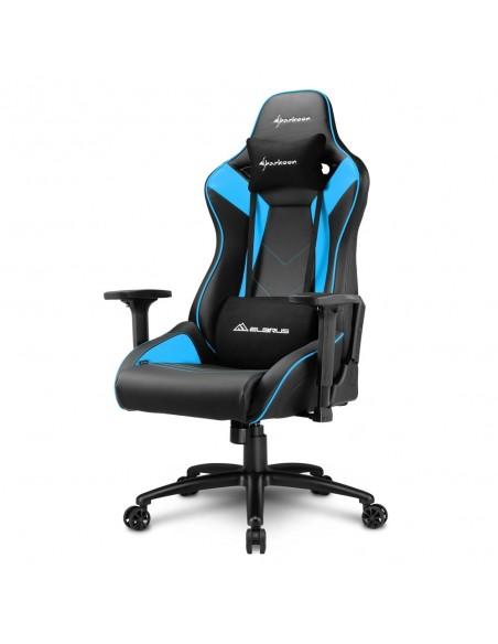 Sharkoon ELBRUS 3 Silla para videojuegos universal Asiento acolchado Negro, Azul