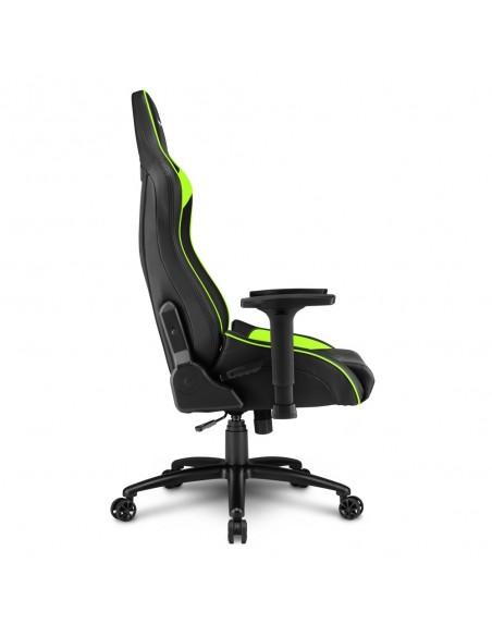 Sharkoon ELBRUS 3 Silla para videojuegos universal Asiento acolchado Negro, Verde