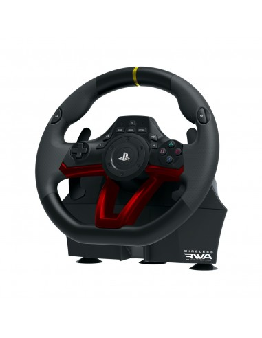 Hori Racing Wheel APEX Negro, Rojo Bluetooth USB Volante + Pedales Analógico Digital PC, PlayStation 4