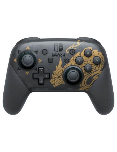 Nintendo Pro Controller Monster Hunter Rise Edition Negro, Oro Bluetooth Gamepad Analógico Digital Nintendo Switch