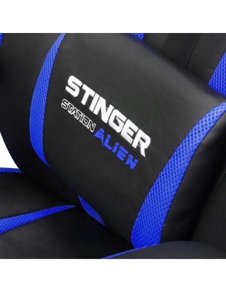 Woxter Stinger Station Alien Silla para videojuegos de PC Asiento acolchado Negro, Azul