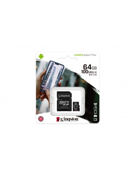 Kingston Technology Canvas Select Plus memoria flash 64 GB MicroSDXC UHS-I Clase 10
