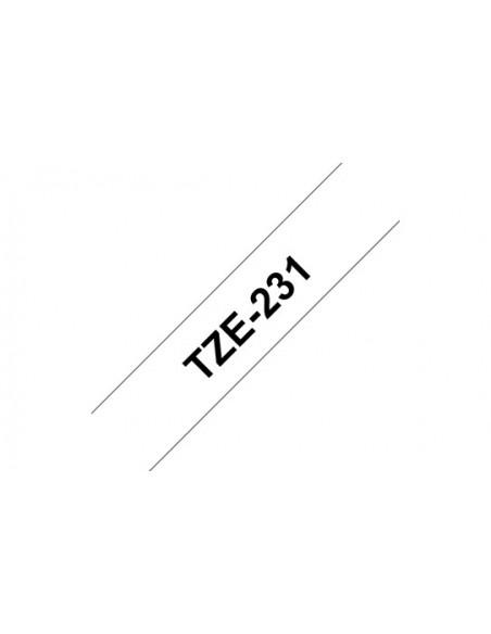 Brother TZe231 cinta para impresora de etiquetas Negro sobre blanco TZe