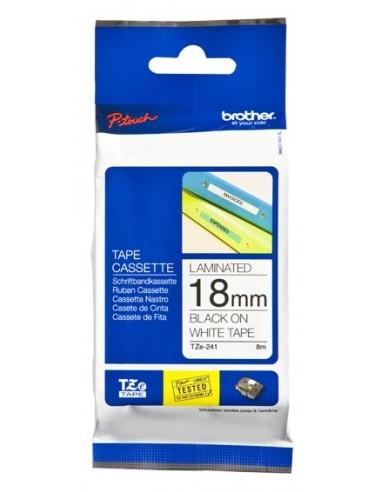 Brother TZe241 cinta para impresora de etiquetas Negro sobre blanco TZe