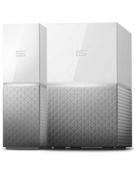 Western Digital MY CLOUD HOME Duo dispositivo de almacenamiento personal en la nube 6 TB Ethernet Plata, Blanco