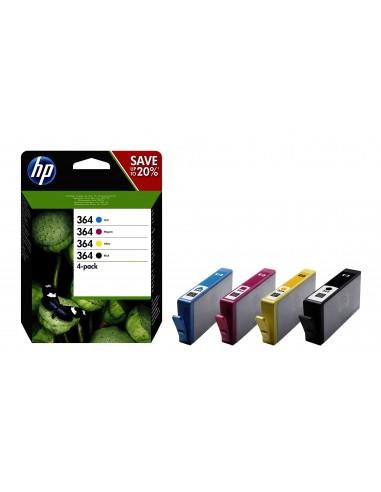 HP 364 cartucho de tinta Original Rendimiento estándar Negro, Cian, Magenta, Amarillo
