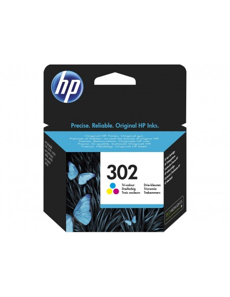 HP 302 Tri-color Original Ink Cartridge cartucho de tinta 1 pieza(s) Rendimiento estándar Cian, Magenta, Amarillo