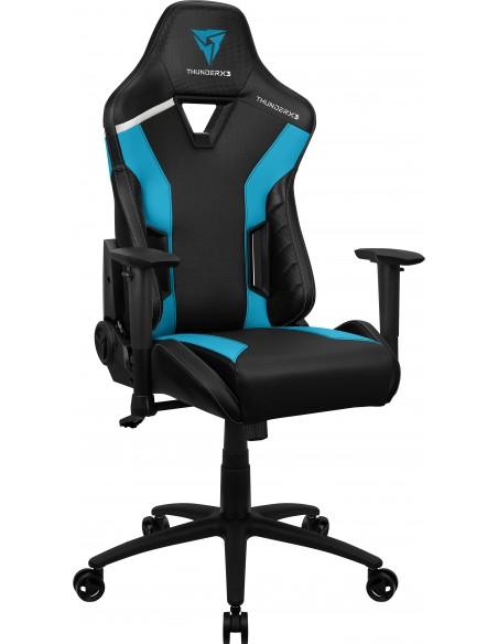 ThunderX3 TC3 Silla para videojuegos universal Asiento acolchado Negro, Azul