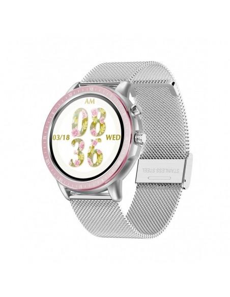 DCU Advance Tecnologic 34157050 reloj deportivo Pantalla táctil Bluetooth Plata