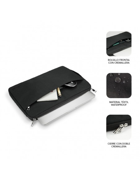 "SUBBLIM Funda Ordenador Urban Laptop Sleeve 15,6"" Black"