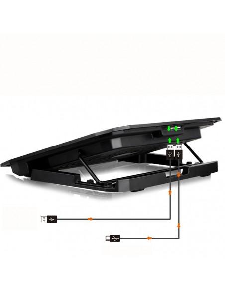 "iggual RP2V17 43,2 cm (17"") Soporte para ordenador portátil Negro"