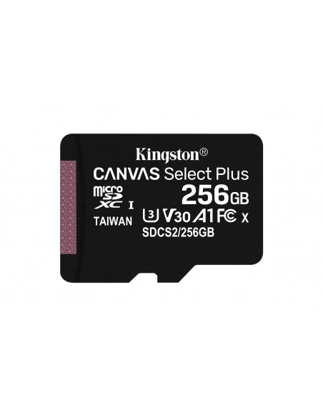 Kingston Technology Canvas Select Plus memoria flash 256 GB MicroSDXC UHS-I Clase 10