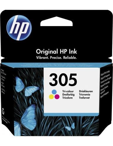 HP 305 cartucho de tinta 1 pieza(s) Original Rendimiento estándar Cian, Magenta, Amarillo