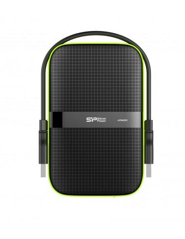 Silicon Power Armor A60 disco duro externo 4000 GB Negro, Verde