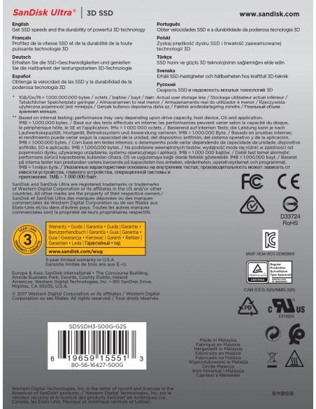 "SanDisk Ultra 3D 2.5"" 500 GB Serial ATA III"