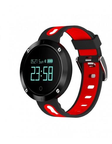 Billow XS30BR reloj deportivo Bluetooth Negro, Rojo