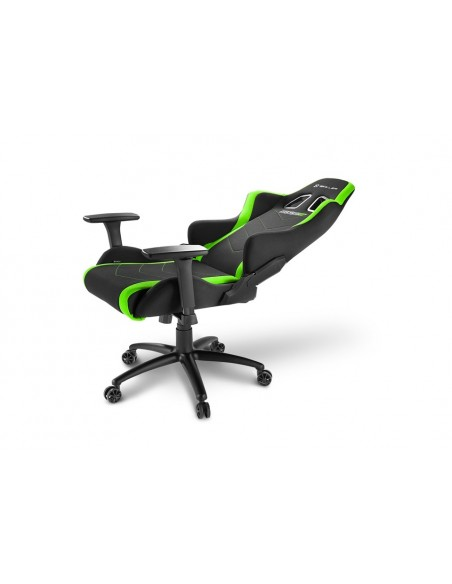 Sharkoon SKILLER SGS2 Silla para videojuegos de PC Asiento acolchado Negro, Verde