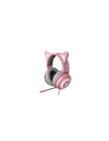 Razer Kraken Kitty Auriculares Diadema Gris, Rosa