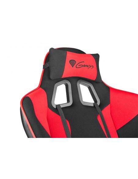 GENESIS SX77 Silla para videojuegos de PC Asiento acolchado Negro, Rojo