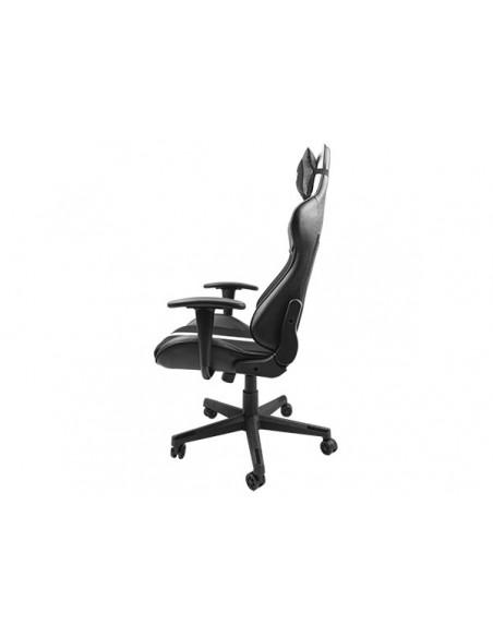 FURY Avenger XL Silla para videojuegos universal Asiento acolchado Negro, Blanco