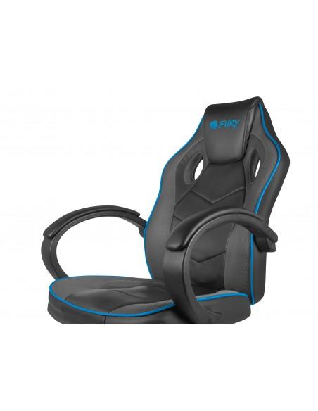 FURY Avenger S Silla para videojuegos de PC Asiento acolchado Negro, Azul, Gris