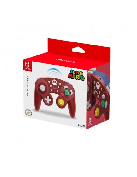 Hori Wireless Battle Pad (Mario) for Nintendo Switch Rojo Bluetooth Gamepad Analógico Digital
