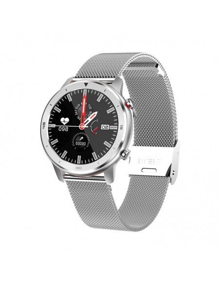 """InnJoo IJ-VOOM CLASSIC-SLV smartwatch 3,3 cm (1.3"""") 32 mm IPS Acero inoxidable"""
